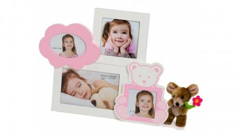 Dětský fotorámeček na více foto BABY Gal růžový