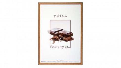 Dřevěný fotorámeček DR001K 21x29,7 (A4) 01 světle hnědá