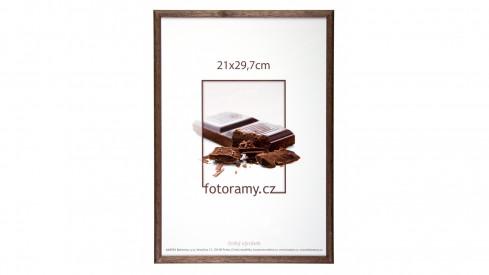 Dřevěný fotorámeček DR001K 9x13 02 tmavě hnědá