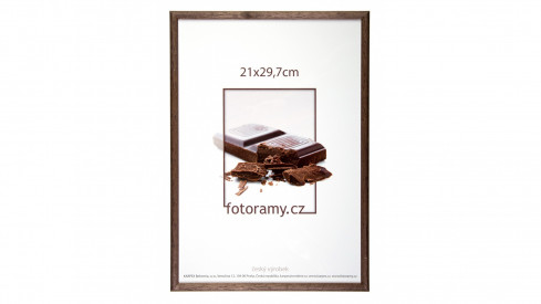Dřevěný fotorámeček DR001K 13x18 02 tmavě hnědá
