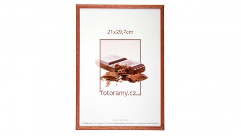 Dřevěný fotorámeček DR001K 15x21 (A5) 03 mahagon