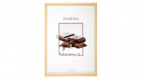 Dřevěný fotorámeček DR001K 15x21 (A5) 04 natural