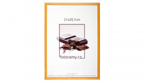 Dřevěný fotorámeček DR001K 15x21 (A5) 05 mid natural