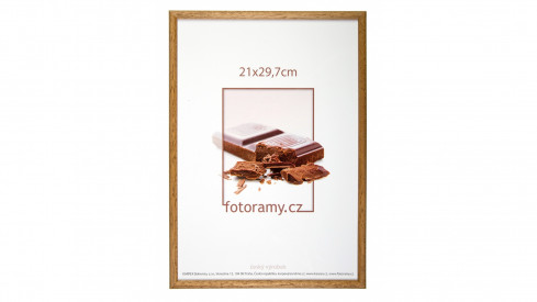 Dřevěný fotorámeček DR001K 13x18 06 pinie