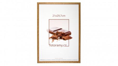 Dřevěný fotorámeček DR001K 21x29,7 (A4) 06 pinie