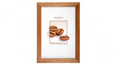Dřevěný fotorámeček DR011K 15x21 A5 01 světle hnědá