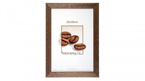 Dřevěný fotorámeček DR011K 21x30 A4 02 tmavě hnědá