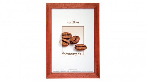 Dřevěný fotorámeček DR011K 21x30 A4 03 mahagon