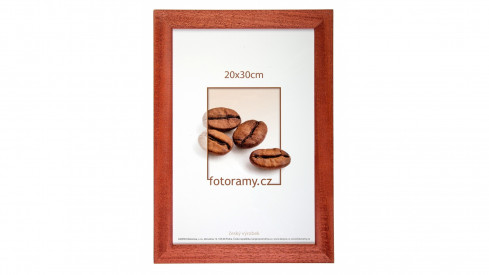 Dřevěný fotorámeček DR011K 30x40 03 mahagon