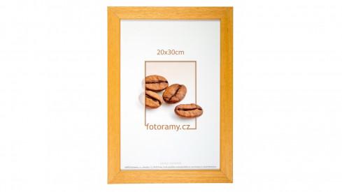 Dřevěný fotorámeček DR011K 21x30 A4 05 mid natural