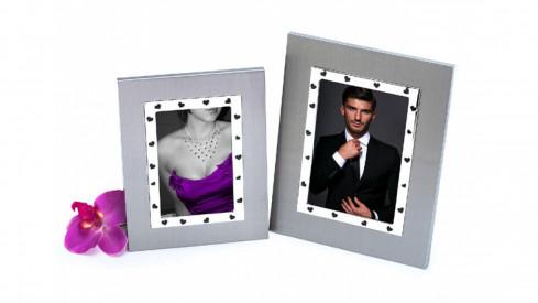 Svatební skleněný fotorámeček 13x18 LOVE