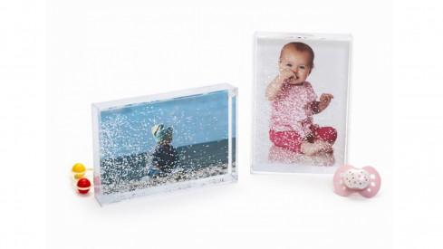 Sněžítko GLITZERKUGEL BABY GIRL 10x15