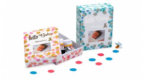Dětská krabička na drobné upomínky HELLO BABY modrá
