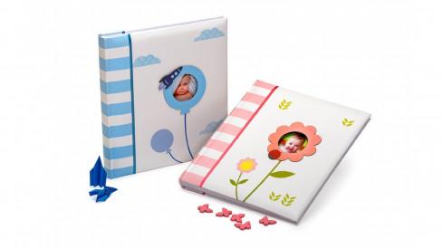 Dětské fotoalbum na růžky SWEET BABY růžové